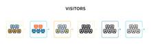 Visitors Vector Icon In 6 Diff...