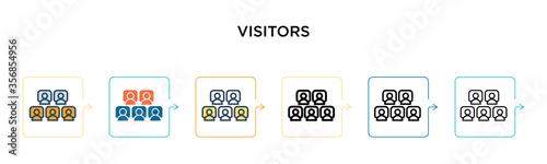 Obraz na płótnie Visitors vector icon in 6 different modern styles