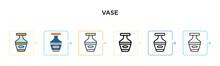 Vase Vector Icon In 6 Differen...