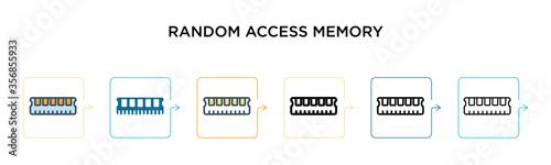 Fototapeta Random access memory vector icon in 6 different modern styles