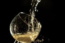 Splash Of White Wine On A Wine...