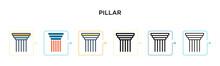 Pillar Vector Icon In 6 Differ...