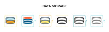 Data Storage Vector Icon In 6 ...