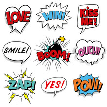 Comic Speech Bubbles With Excl...