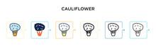 Cauliflower Vector Icon In 6 D...