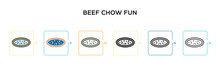 Beef Chow Fun Vector Icon In 6...