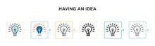 Having An Idea Vector Icon In ...