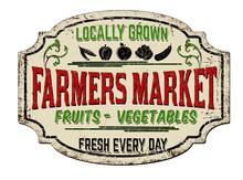 Farmers Market Vintage Rusty M...