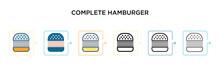 Complete Hamburger Vector Icon...