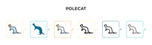 Polecat Vector Icon In 6 Diffe...