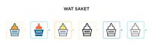 Wat Saket Vector Icon In 6 Dif...