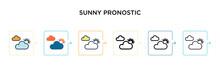 Sunny Pronostic Vector Icon In...