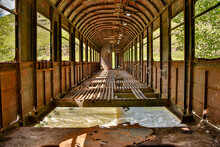 An Old Railroad Car Has Been U...