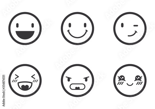emoticon icons Fotobehang