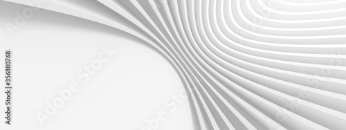Abstract Engineering Background. White Wave Texture Fototapet