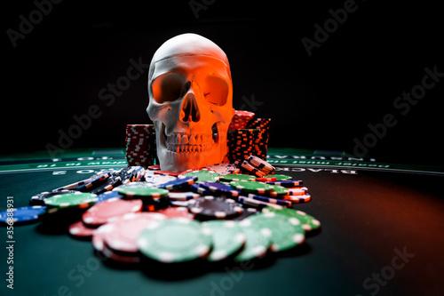 Photographie Casino Black Jack table