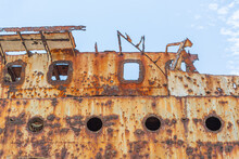Detail View Of Abandoned Ship ...