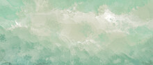 Pastel Green Abstract Watercolor Background