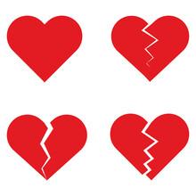 Set Of Heart Vector. Collectio...