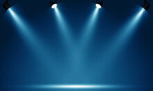 Spotlights Illuminate Empty St...