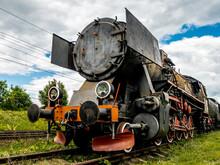 Old Steam Locomotive Standing ...