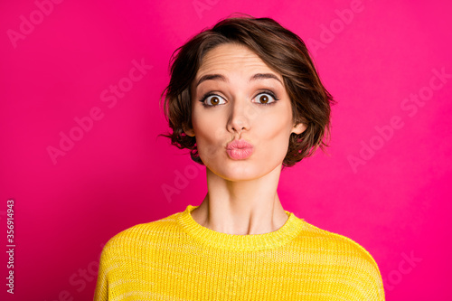 Close-up portrait of her she nice-looking attractive lovely pretty lovable cute Fototapeta