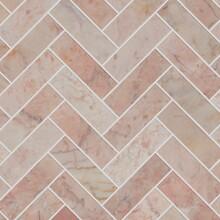 Pink Herringbone Marble Mosaic...