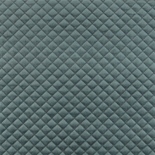 Velvet Upholstery Quilted Fabric Texture In Charcoal Grey