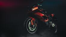 Motorcycle In Studio. 3d Rende...