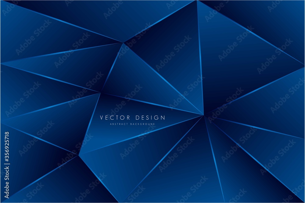 Fototapeta      Abstract background with blue geometric pattern modern design vector illustration