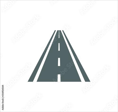 Fototapety, obrazy: Road icon vector on white background