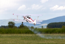 R/C Airplane Taking Off The Gr...