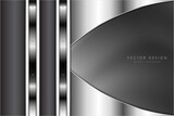 Abstract background luxury of grey and silver metallic modern design vector illustration.