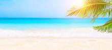 Panorama Of Summer Beach And B...