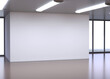 Empty white room 3d rendering