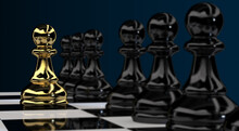 Gold Pawn Chess Leadership 3d ...