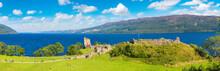 Urquhart Castle Along Loch Ness Lake