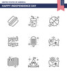 Editable Vector Line Pack of USA Day 9 Simple Lines of cream; party; basketball; decoration; american