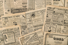 Newspaper Pages Antique Advertising Vintage Fashion Magazine