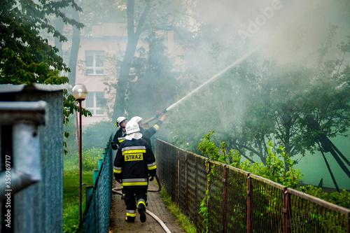 Fotografía gaszenie ognia.