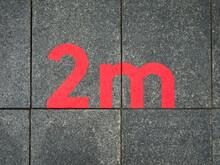 Social Distancing Floor Sign, ...