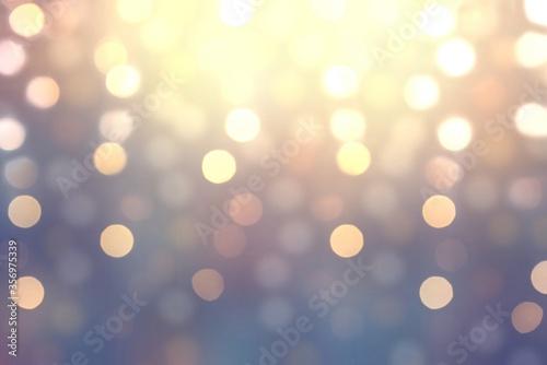 Fototapeta Bokeh effect on shiny lilac blurred background. Festive glitter pattern. obraz na płótnie