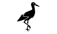 Sandpiper Bird Icon Illustration Isolated Vector Sign Symbol - Vector Illustration