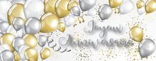 Card Or Banner On Happy Birthd...