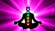 canvas print picture - Meditation People Achieve Enlightenment, Activation Of Chakra, Aura In The Body