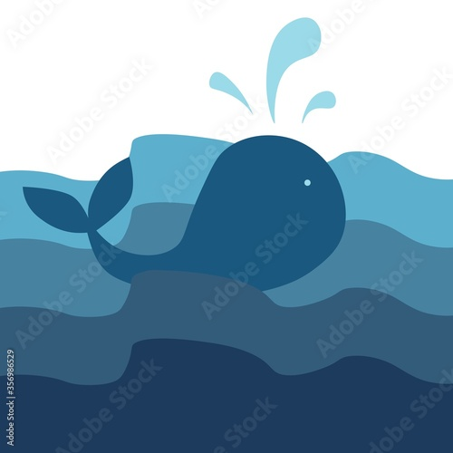 Photo A whale is swimming
