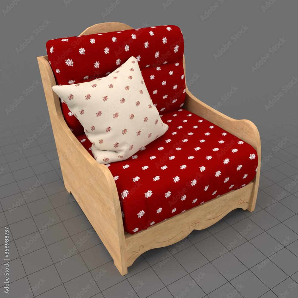 Fototapeta Country style armchair