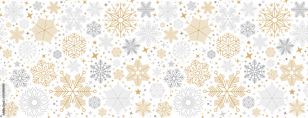 Fototapeta christmas card with snowflake border vector illustration