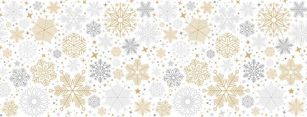 Fototapeta Boże Narodzenie/Nowy Rok christmas card with snowflake border vector illustration