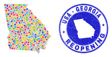 Celebrating Georgia State Map ...